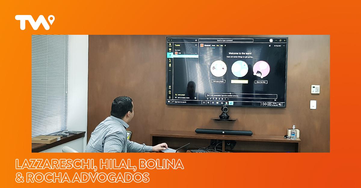 Automação corporativa completa de áudio, vídeo e compartilhamento em rede sem fio na LAZZARESCHI, HILAL, BOLINA & ROCHA ADVOGADOS, em São Paulo/SP