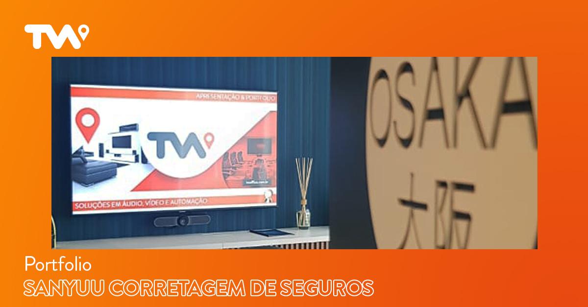 Automação de áudio, vídeo, monitoramento e compartilhamento sem fios para a Sanyuu Corretagem de Seguros, em São Paulo. Projeto em parceria com a LPA Arquitetura.
